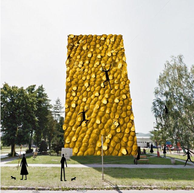 Lezecká stena (Banánová šupka)